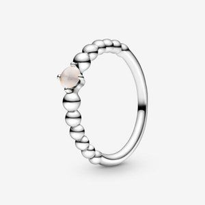 ✨Pandora  misty rose beaded ring